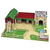 Small john crane tidlo oldfield farm wooden toy play farm playfarm folding base suitable for 3 three years and up b