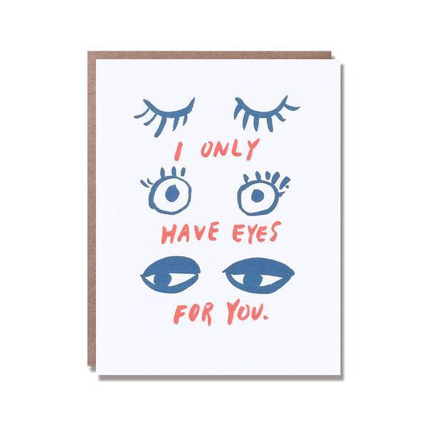 Large eyes for you card