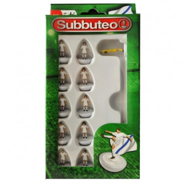 Large player white team subbuteo table top football