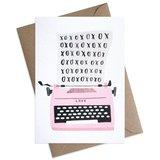 Small xoxo typewriter valentine greeting card