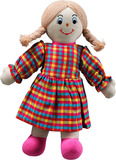 Small rag doll mum mom white skin dark blonde hair cotton lanka kade fair trade toy toys natural fun junction toy shop stop store crieff perth perthshire scotland
