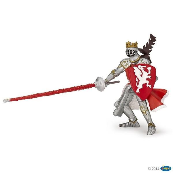 Large papo medieval red dragon king 39386