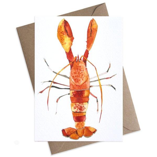 Large lobster card