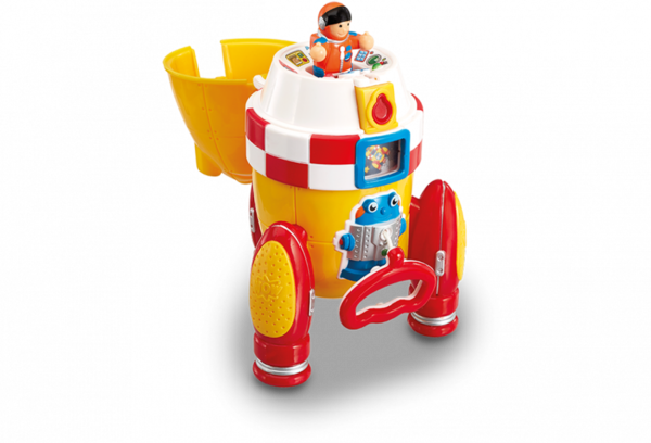 Large ronnie rocket ship space astronaut wow toys preschool plastic safe no batteries toy fun junction toys crieff perth perthshire scotland