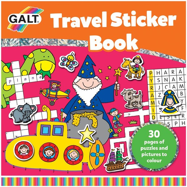 Large galt travel sticker activity book for 6 six years and up