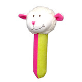 Small fiesta crafts squeakaboo sheep rattle soft toy squeaker from birth onwards