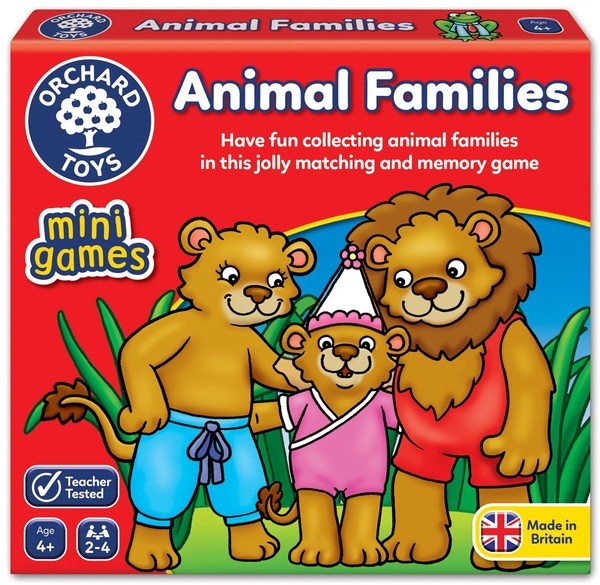 Large fun junction orchard toys game mini travel game animal families happy families