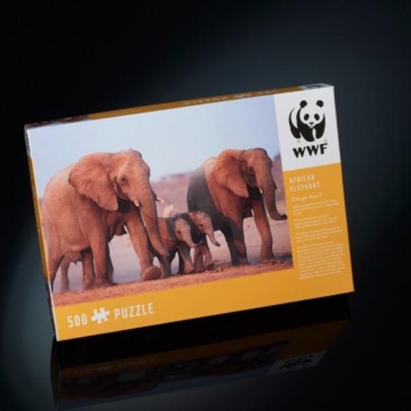 Large wwf african elephant jigsaw puzzle paul lamond games