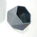 Small hexagon wallpot jacklaverick grey