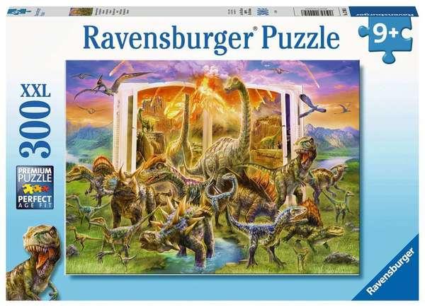 Large ravensburger fun junction toy shop perth crieff perthshire scotland jigsaw puzzle jig saw dinosaurs dinosaur 4005556129058 dino dictionary 300 xxl
