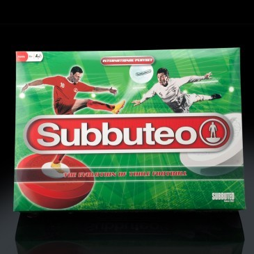 Large subbuteo the game with mat players ball and goals