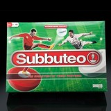 Small subbuteo the game with mat players ball and goals