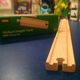 Small medium straight tracks brio wooden railway