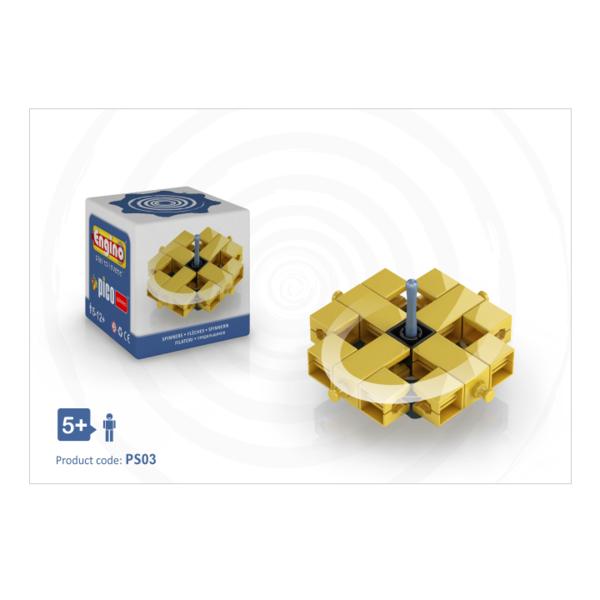 Large engino pico spinner blue construction pocket money plastic engineering spinning top