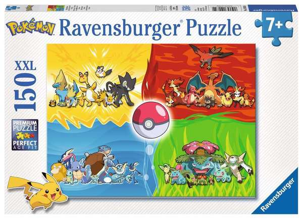 Large ravensburger fun junction toy shop perth crieff perthshire scotland jigsaw puzzle jig saw pokemon different types kinds of pokemon 150 xxl pieces