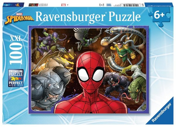 Large ravensburger fun junction toy shop perth crieff perthshire scotland jigsaw puzzle disney marvel fearless spiderman 100 xxl piece pieces