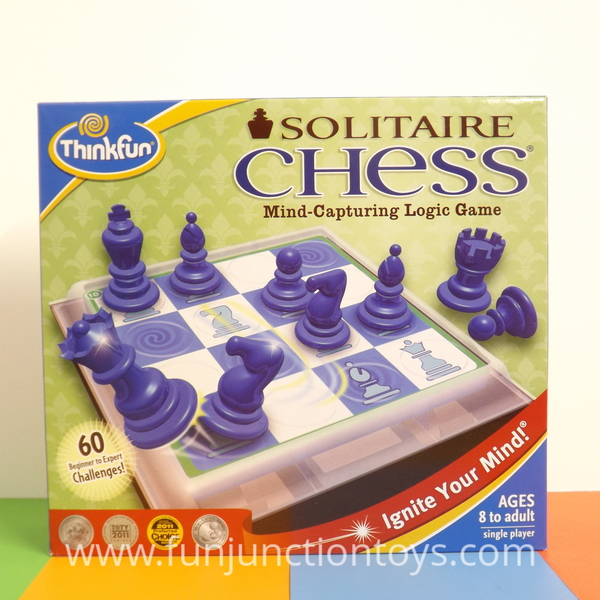 Large pld tf solitaire chess train moves logic puzzle for 8 eight years to adult w
