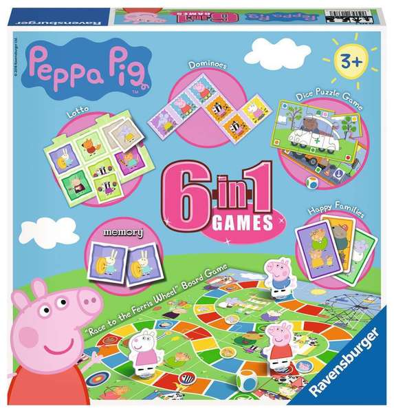 Large ravensburger fun junction toy shop perth crieff perthshire scotland game peppa pig 6 in 1 games board card games