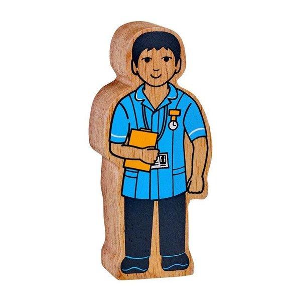 Large lanka kade wooden figure nurse