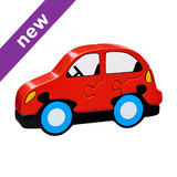 Small car jigsaw puzzle lanka kade fair trade toy toys wooden wood natural fun junction toy shop stop store crieff perth perthshire scotland