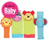 Small first rattle set bands socks wearable rattles for baby babies galt toys soft elephant monkey lion zebra