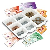Small galt playmoney sterling play money with tray