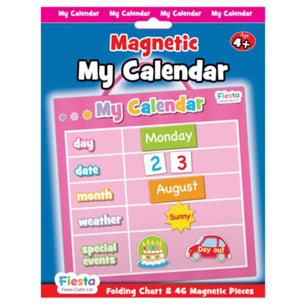 Large fiesta crafts magnetic calander date weather and special event magnets pink