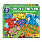Small orchard toys one dog ten frogs game