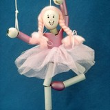 Small ballerina crafty kids puppet kit cardboard marrionette puppet