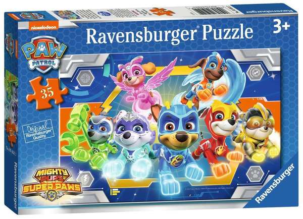 Large ravensburger fun junction toy shop perth crieff perthshire scotland jigsaw puzzle paw patrol mighty pups super paws 35 thirty five pc piece