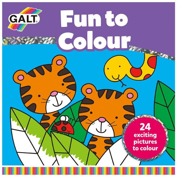 Large galt toys fun to colour simple colouring book early writing preschool fine motor fun junction toy shop crieff perth scotland