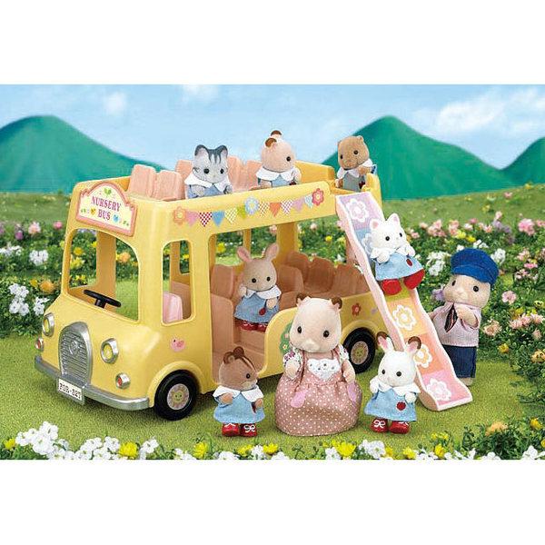 Large sylvanian nursery double decker bus 5101 sq