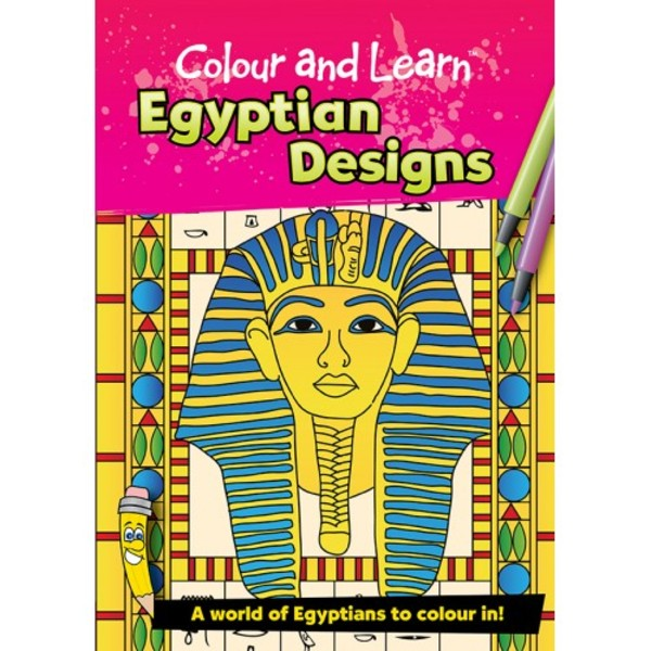 Large colouring colour and learn book egyptian designs ancient egypt