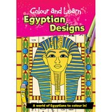 Small colouring colour and learn book egyptian designs ancient egypt