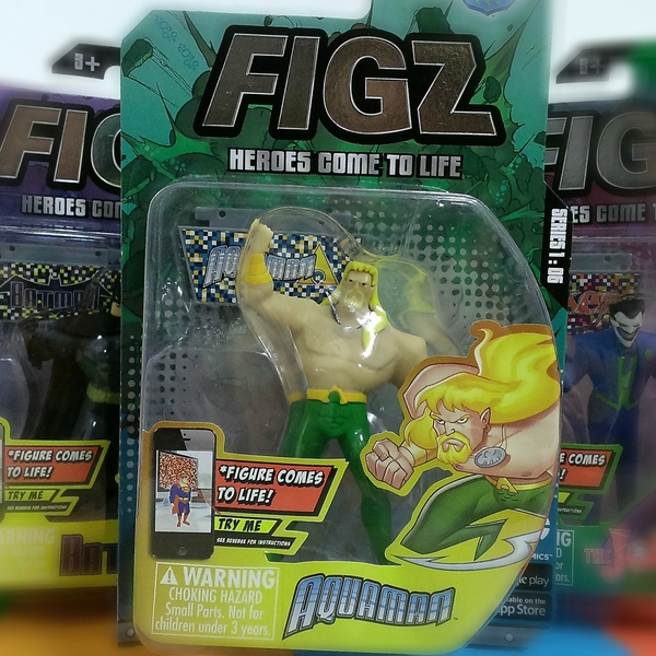 Large aquaman figz action figure augmented reality 3d app figz justice league