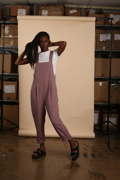 Large nyss19 dustypink dungarees