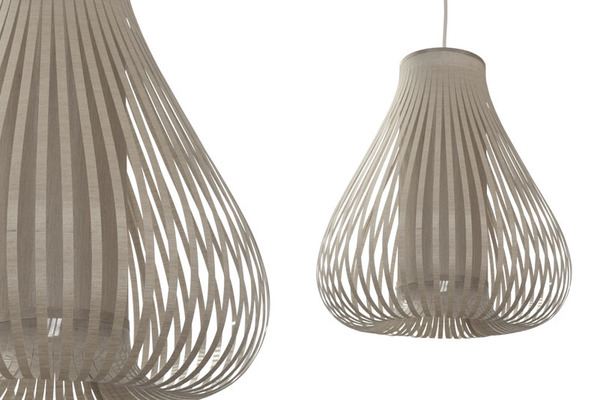 Large balloon shade taupe