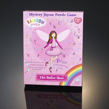 Large ballet shoe rainbow magic jigsaw puzzle mystery game