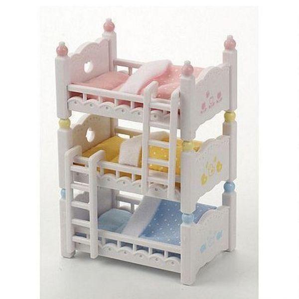 Large sylvanian families 4448 triple bunk beds detachable sq