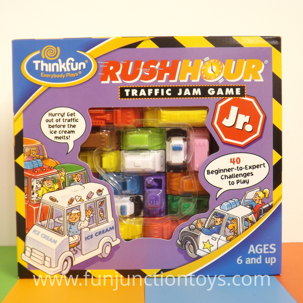 Large pld tf rush hour jr pld tf rush hour junior thinkfun think fun logic puzzle traffic jam for five 5 years to adult  w