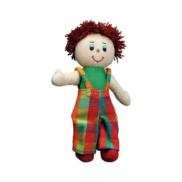 Large rag doll boy white skin red hair cotton lanka kade fair trade toy toys natural fun junction toy shop stop store crieff perth perthshire scotland