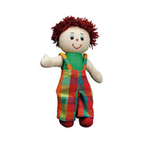 Small rag doll boy white skin red hair cotton lanka kade fair trade toy toys natural fun junction toy shop stop store crieff perth perthshire scotland