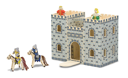 Large fold and go castle blue