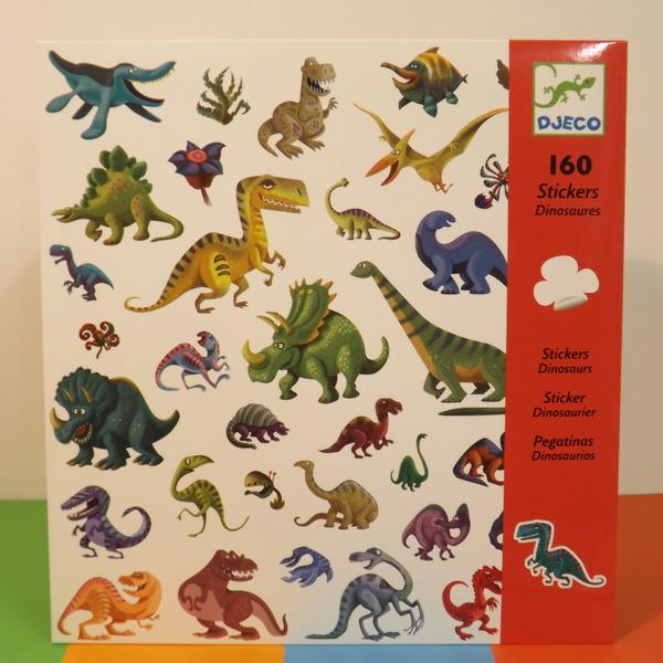 Large dj c 160 stickers  dinosurs