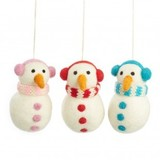 Small snowmen with headphones   group 3
