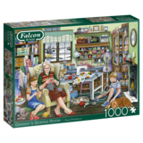 Small falcon granny s sewing room 1000pc