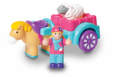 Small marys mary day out horse and cart sheep figure wow toys preschool plastic safe no batteries toy fun junction toys crieff perth perthshire scotland