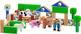 Small farm themed building blocks pig cow sheep donkey lanka kade fair trade toy toys wooden wood natural fun junction toy shop stop store crieff perth perthshire scotland 3