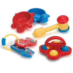 Medium_battat_my_first_playset_box_contains_two_turtle_dishes__mallet_some_rattling_keys_and_rolling_rattle_toys_toy_from_birth_for_newborns