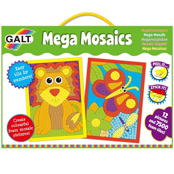Large galt toys craft kit mega mosaics early first stickers by number fun junction toys shop perth crieff perthshire scotland